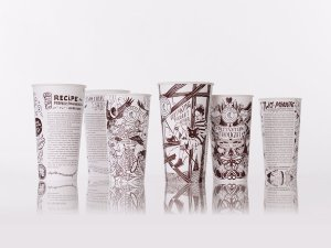 An example of the cups being used by Chipotle as part of a new series that includes writing by authors like Toni Morrison, George Saunders and Jonathan Safran Foer.