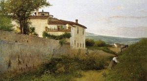 %22A View in Piagentina (Una veduta in Piagentina) 1863