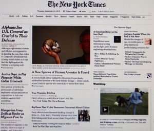 2 NYT headline